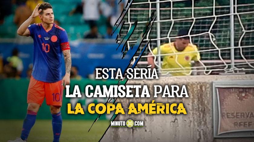 James Rodriguez camiseta Seleccion Colombia entrenamiento Copa America