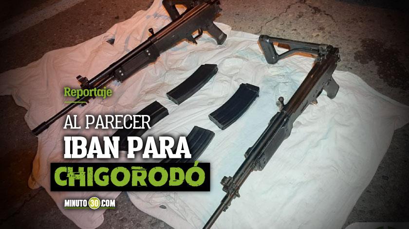 Para quien eran Autoridades encontraron una encomienda con dos fusiles en San Cristobal
