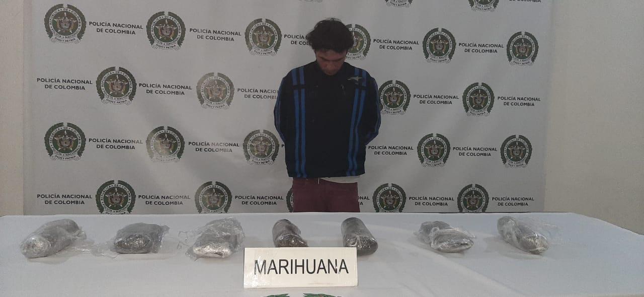 Capturado con marihuana en el centro de Medellin