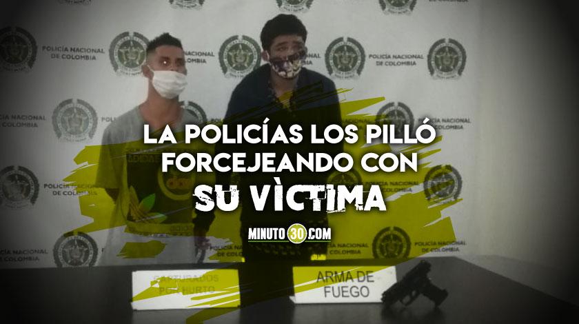 Capturados dos fleteros en el centro de Medellin