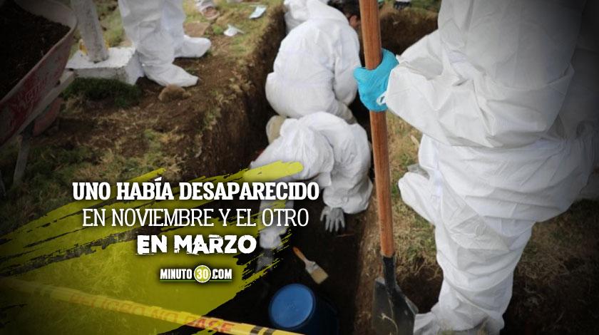 Exhuman cadaveres de menores de edad en Bello y Medellin marzo 2020 noviembre 2019 San Antonio de Prado