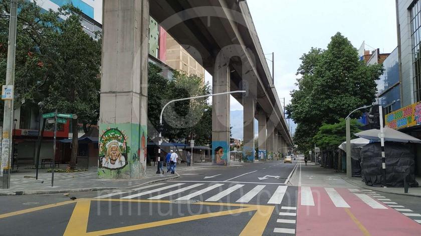 Vendedores ambulantes centro Calles de Medellin cuarentena coronavirus aislamiento preventivo1