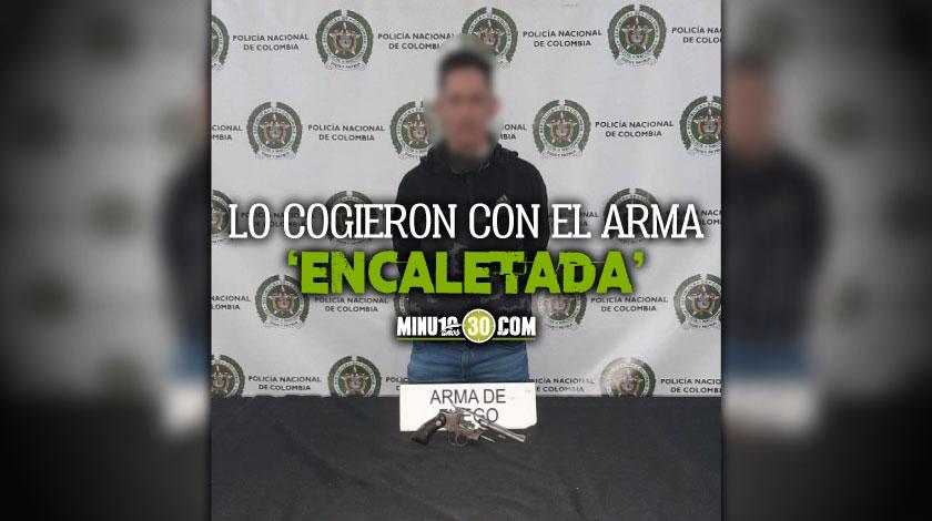 Venezolano capturado en el centro de Medellin con un arma de fuego