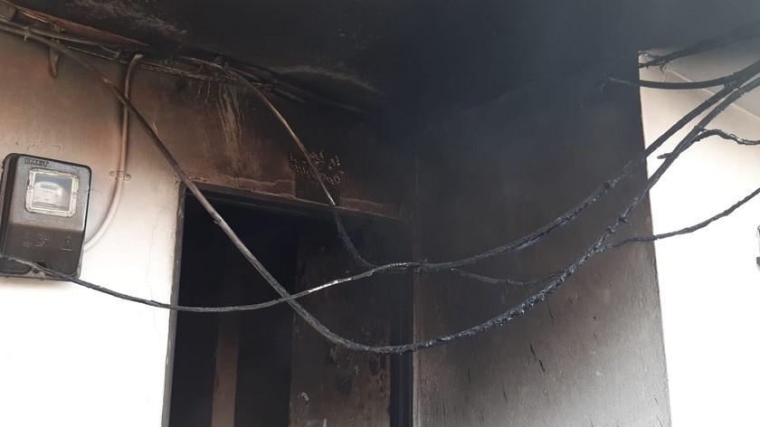 moto incinerada en una vivienda 3