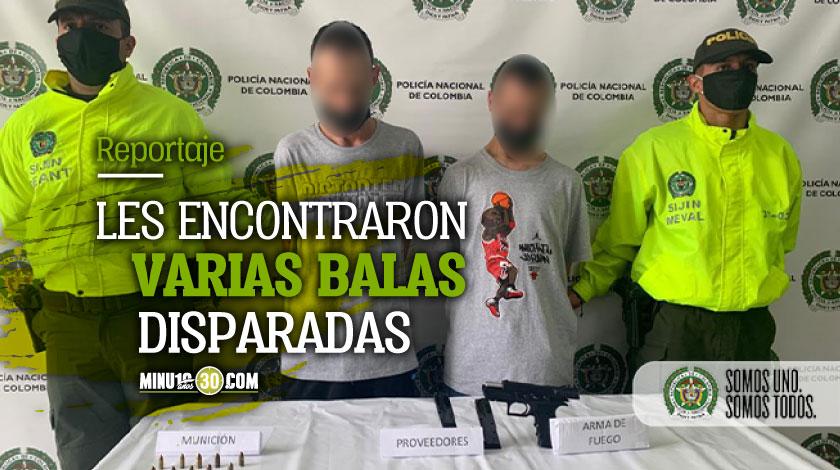 En Sabaneta cogieron a dos hermanos que no hacian sino asustar a los habitantes con una pistola 1