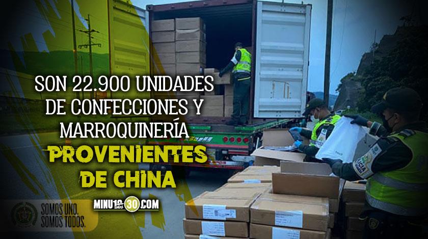 Incautaron mas de 90 millones en mercancia ilegal que iba entrar a Medellin
