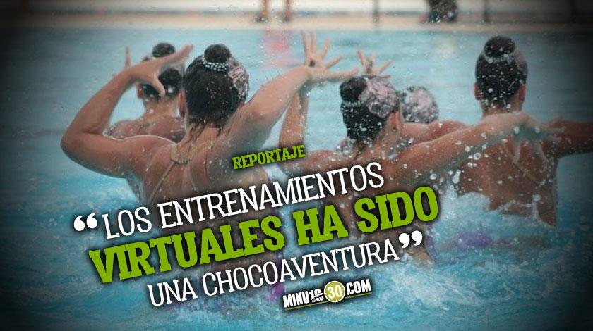 Exponentes rusas de natacion artistica quebrantaron su hermetismo con la pandemia y las colombianas buscan aprenderles