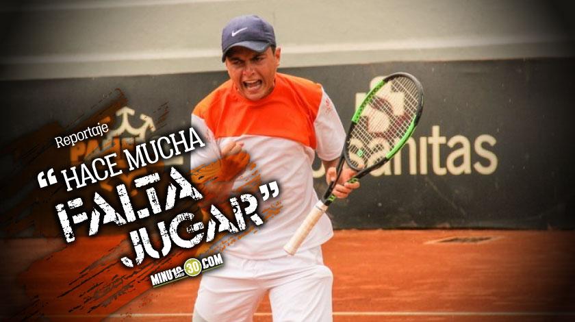 Para un tenista es muy duro estar por fuera de las canchas tres meses Sergio Luis Hernandez