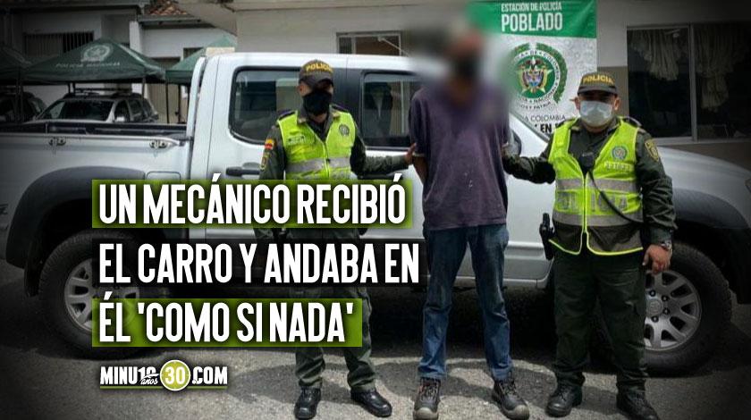 Camioneta robada en Medellin recuperada1