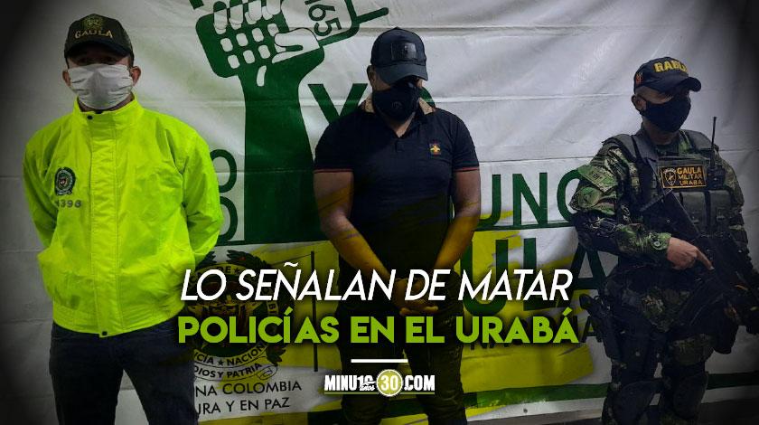 Capturado alias Juancho del Clan del Golfo en Antioquia Medellin Las Palmas Turbo