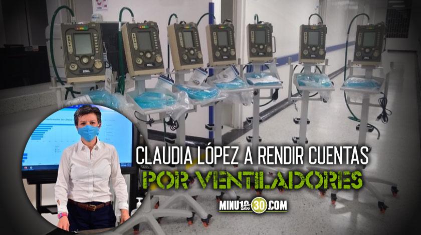 Claudia Lopez a debate de control por ventiladores mecanicos para covid