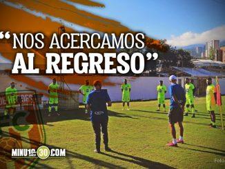 Envigado FC entrena el el Polideportivo Sur con la ilusion de un pronto regreso a competencia