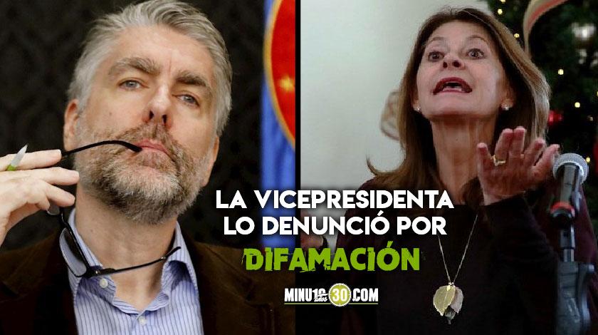 Marta Lucia Ramirez demanda al periodista Jeremy McDermott