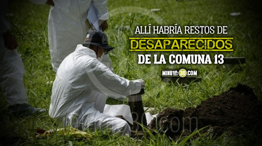 Restos de desaparecidos de la Comuna 13 Medellin 1