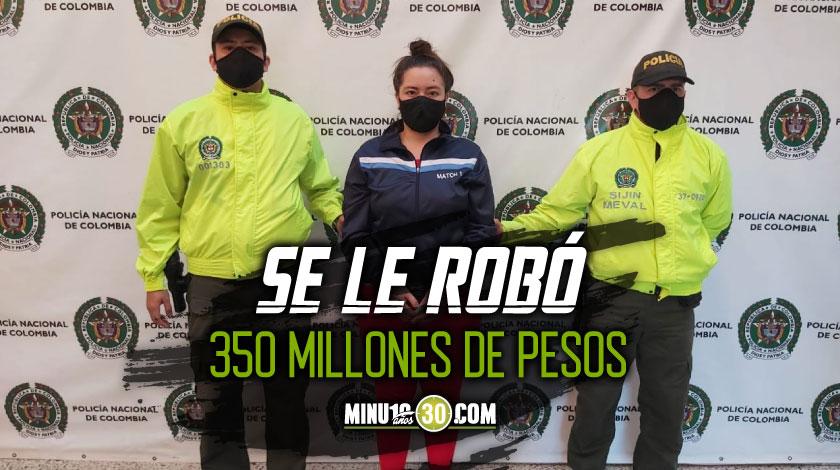 Una joven de 19 anos se le robo la caja fuerte a su novio de 63 anos en El Poblado