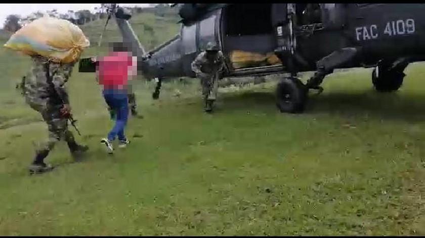 familia desplazada en Ituango 1