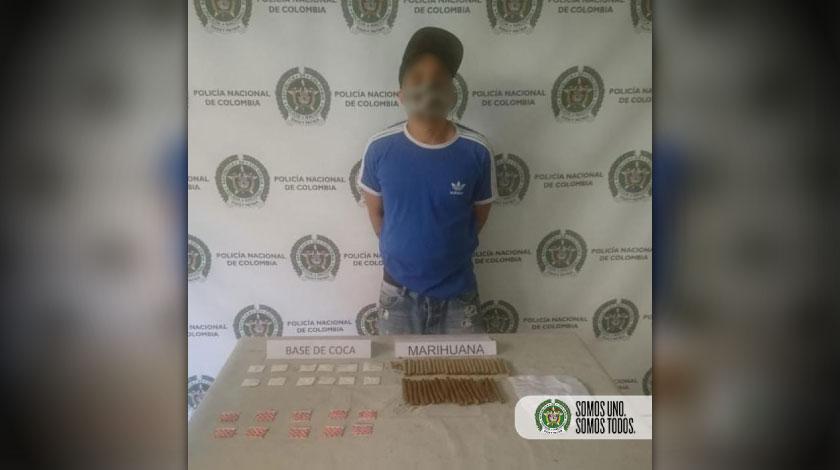 Capturado con droga en el barrio Santa Cruz de Medellin