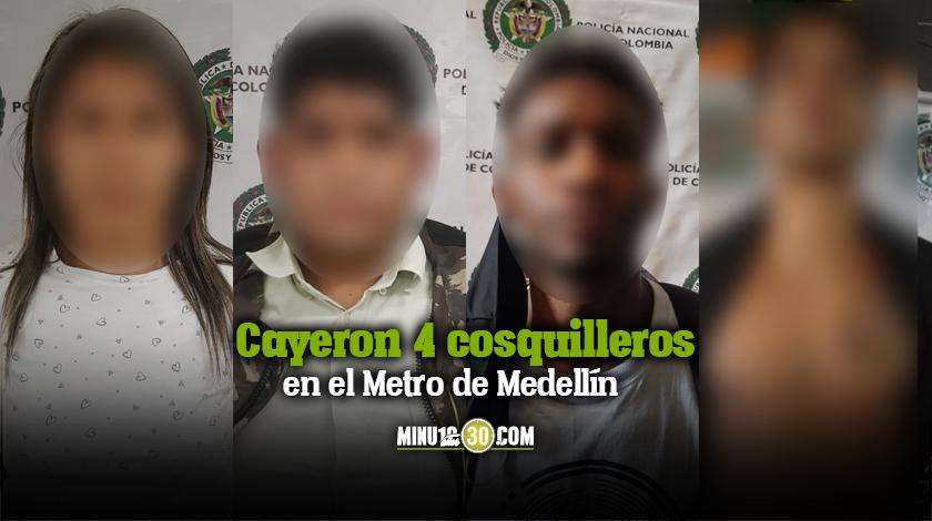 Cayeron 4 cosquilleros en el Metro de Medellin