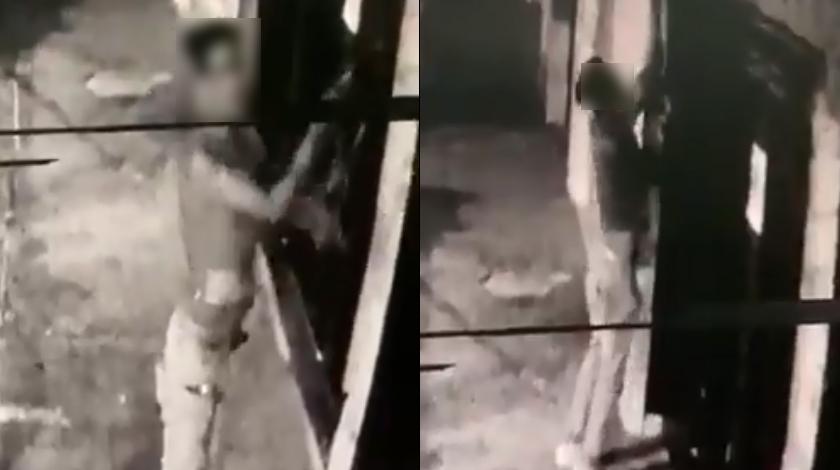 Hombre robando cableado telefonico en Belen noticias
