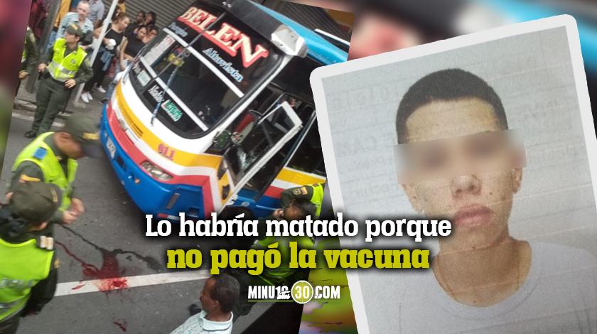 Imputado alias la Chinga por el homicidio de un conductor de bus de servicio publico