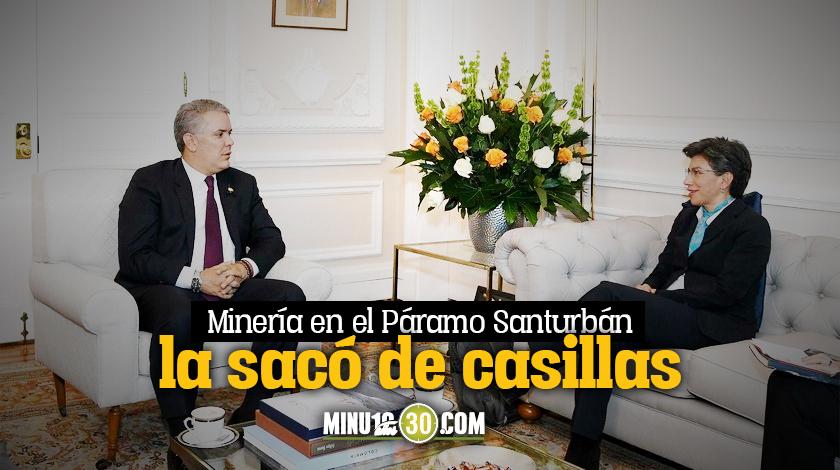 Ivan Duque y Claudia Lopez presidente alcaldesa criticas Bogota mineria Santurban