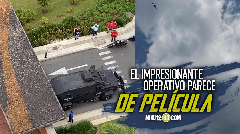 La comunidad reporta tremendo operativo de la Policia