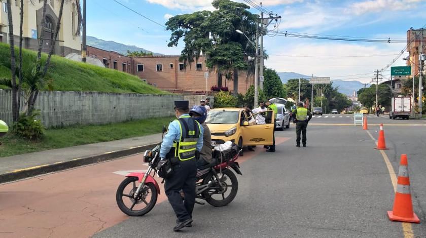 Operativo de control reten en Medellin ciudad