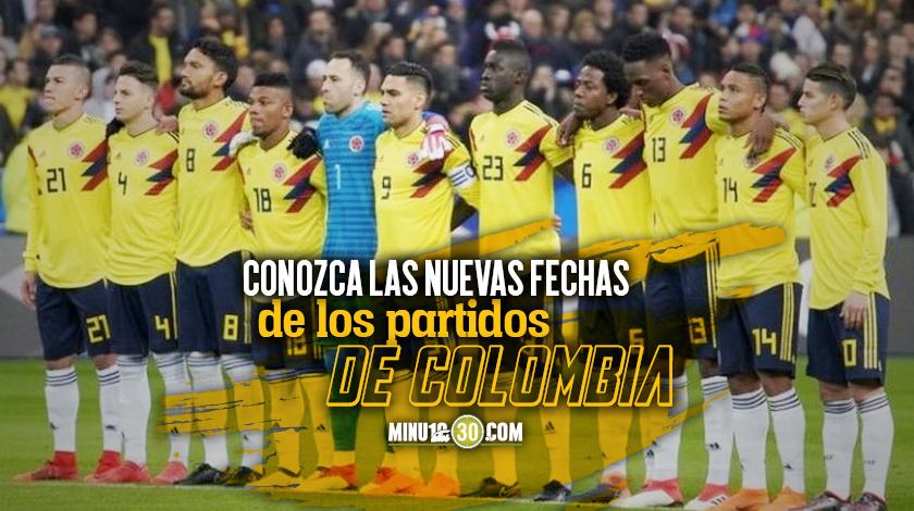 Reprograman partidos de la seleccion colombia de septiembre