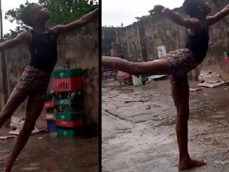 Beca para niño que bailó ballet descalzo y con el piso mojado