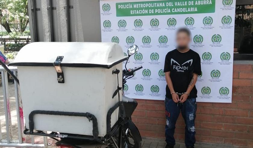 Robo de moto a domiciliario en Villa Hermosa