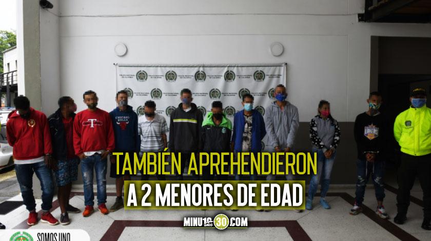 11 CAPTURADOS DEL GRUPO DELINCUENCIAL GUASIMALITO
