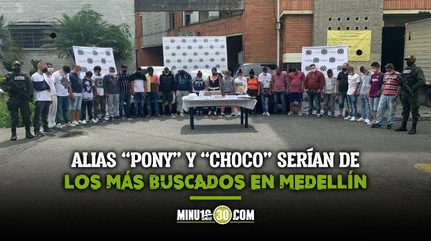 A la carcel 24 presuntos integrantes de estructura criminal que delinque en la zona nororiental de Medellin