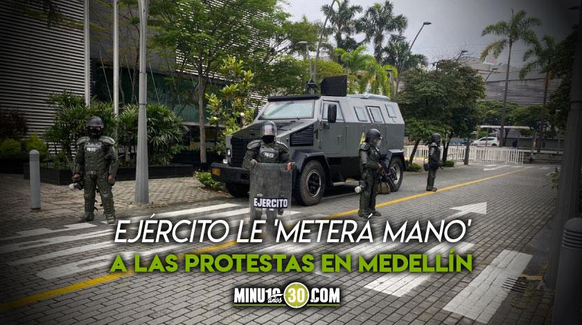Antimotines del Ejercito Nacional en Medellin 3