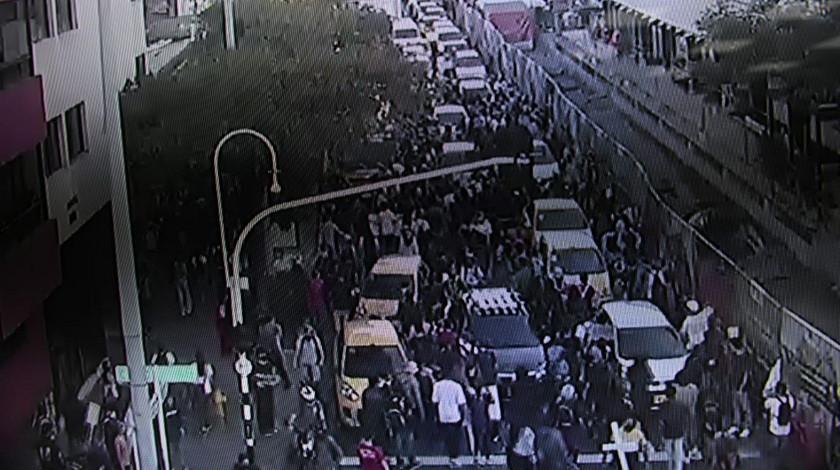 Bloqueos Avenida Oriental Medellin manifestacion atracos a conductores