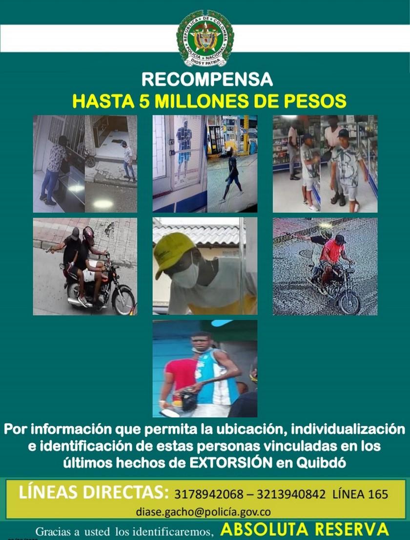 CARTES DE LOS MAS BUSCADOS POR EXTORCION EN CHOCO 2