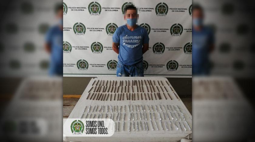 Capturado con marihuana en Manrique Medellin