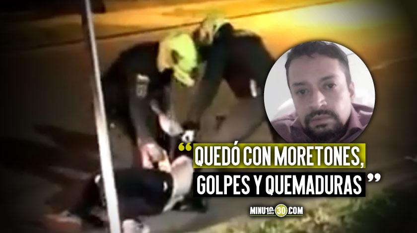 Juan David Uribe amigo del abogado que murio tras procedimiento de la Policia en Bogota