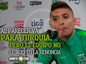Que polemica Tras jugar solo 21 minutos en el ano el Indio Ramirez renuncio al Bucaramanga