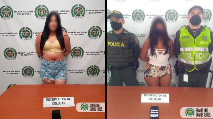 dos mujeres capturadas e la terminal