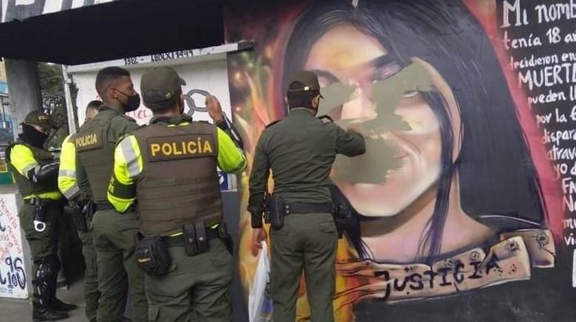 Censuran mural Julieth Ramírez