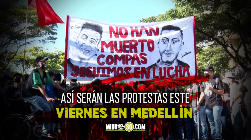 protestas viernes 11 de septiembre Medellin