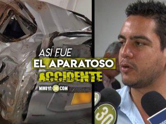 Accidente del concejal Alex Florez Medellin Antioquia noticias