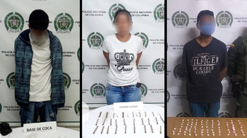 Capturados con droga en Medellin