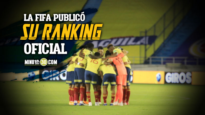 Colombia se mantiene entre las diez mejores selecciones de la Clasificacion Fifa