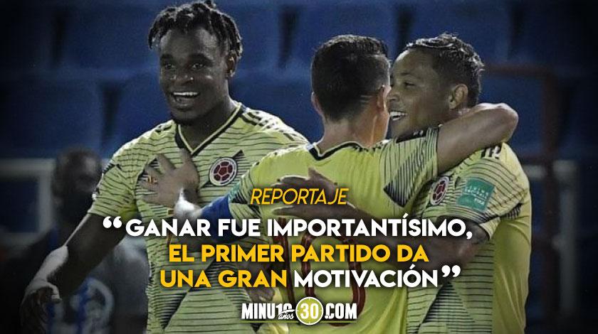 Muriel le atribuyo al trabajo de tiempo atras el buen desempeno de Colombia