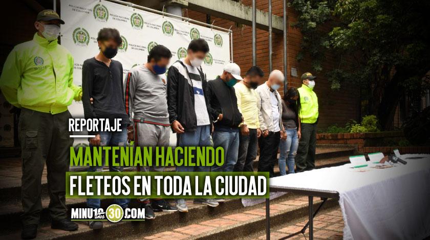 Nos tenian mamados Policia capturo en Manrique a ocho ladrones de motos y carros en Medellin