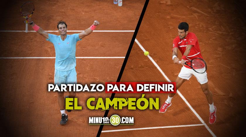 Rafael Nadal defendera el titulo de Roland Garros frente a Novak Djokovic