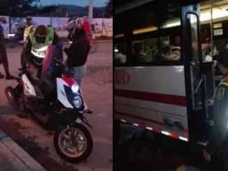 Retenes de la Policia en La Estrella Antioquia
