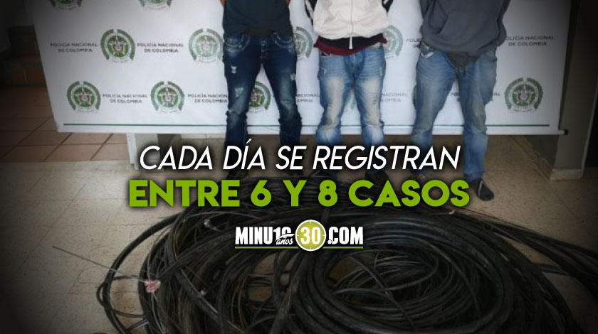 Robo de cable medellin Antioquia telefono internet