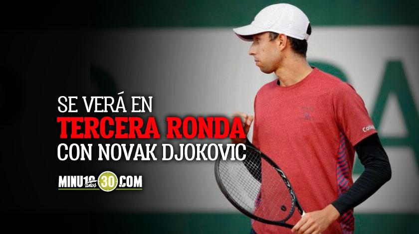 Tremendo crack Daniel Galan paso a nueva ronda en Roland Garros pero le toca contra el numero 1